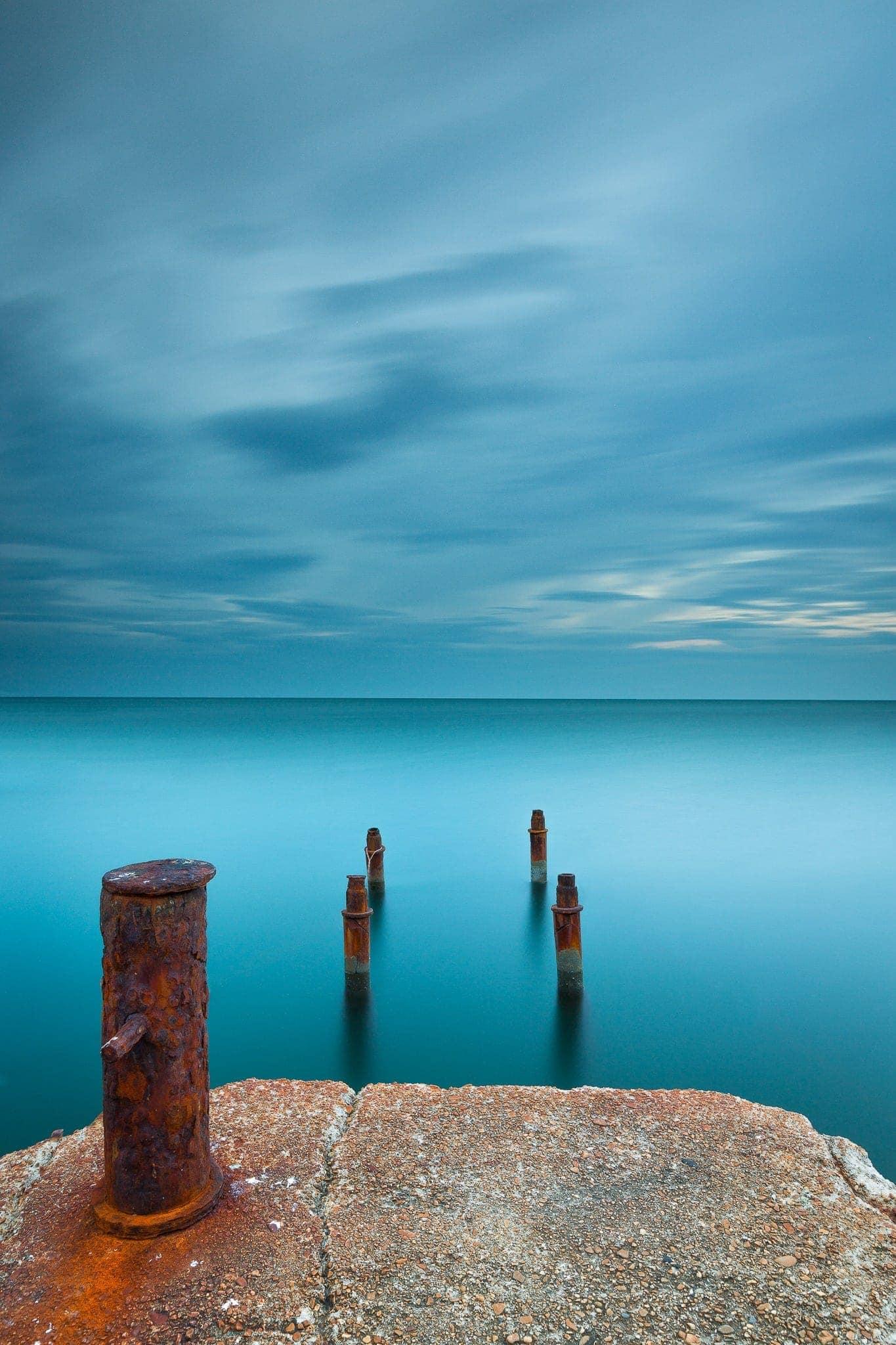 Francesco Gola Seascape Landscape Photography Long Exposure Lerici Old Pier Rusty Italy