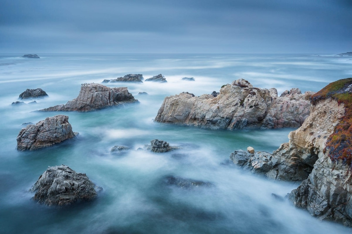 Francesco Gola Seascape Landscape Photography Long Exposure Blue Storm California Big Sur Route 1