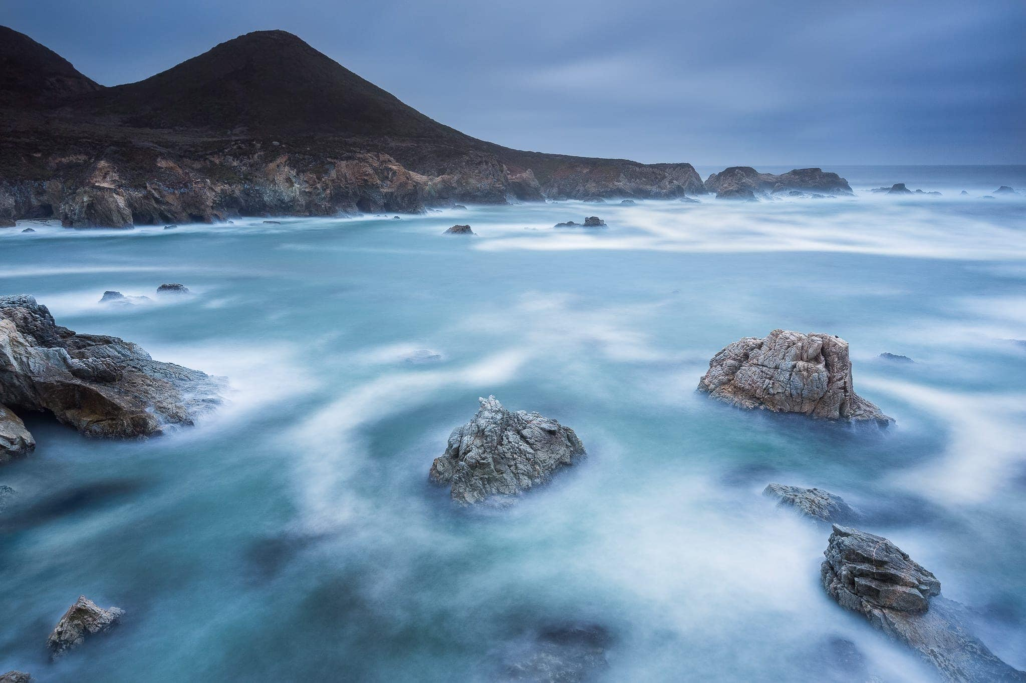 Francesco Gola Seascape Landscape Photography Long Exposure Big Sur California Storm
