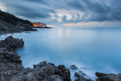 Francesco Gola Seascape Landscape Photography Long Exposure Sunrise Blue Cold Tellaro