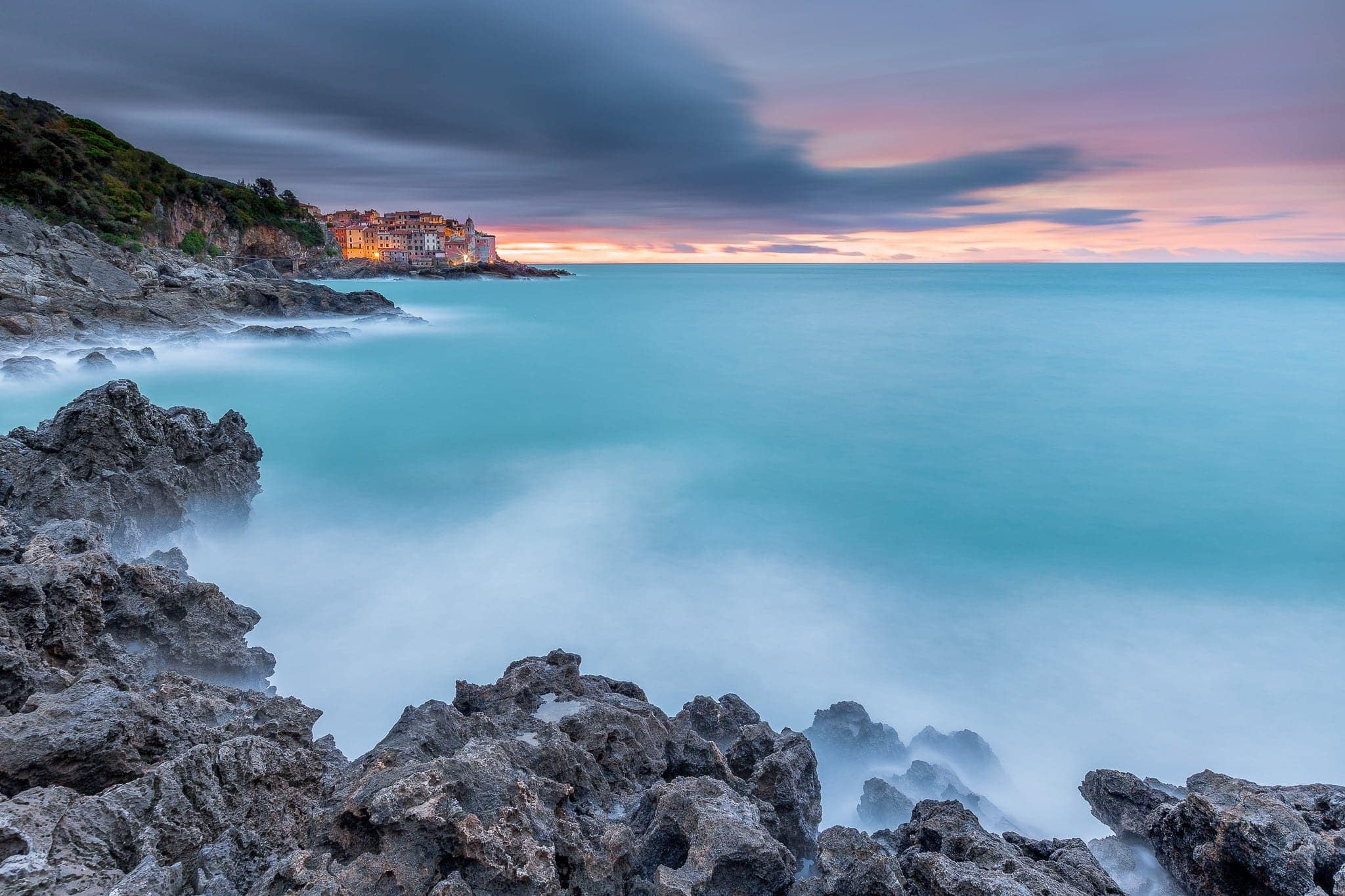 Francesco Gola Seascape Landscape Photography Long Exposure Sunrise Tellaro Italy