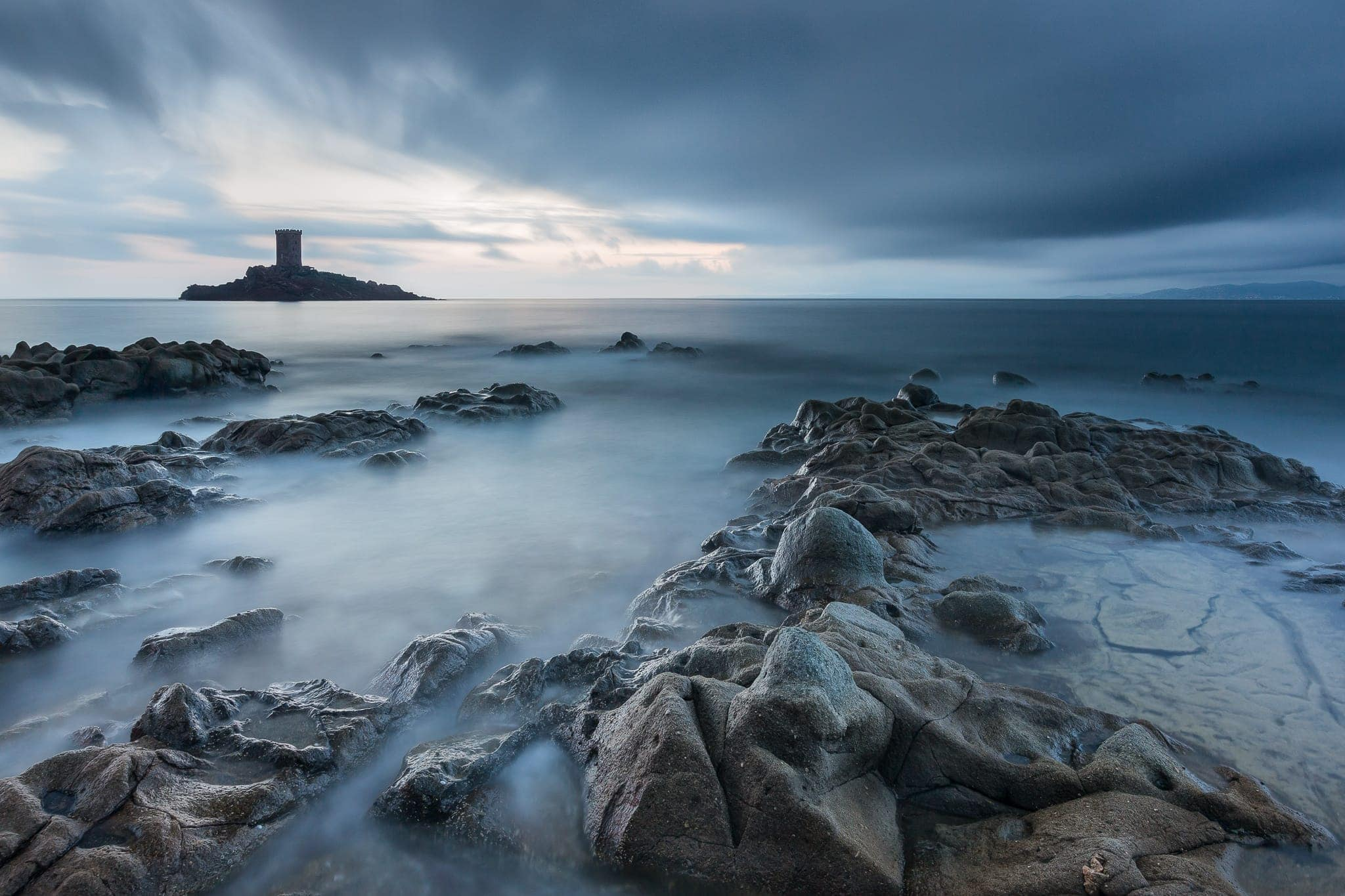 Francesco Gola Seascape Landscape Photography Long Exposure Dramont Storm France Cote Azur