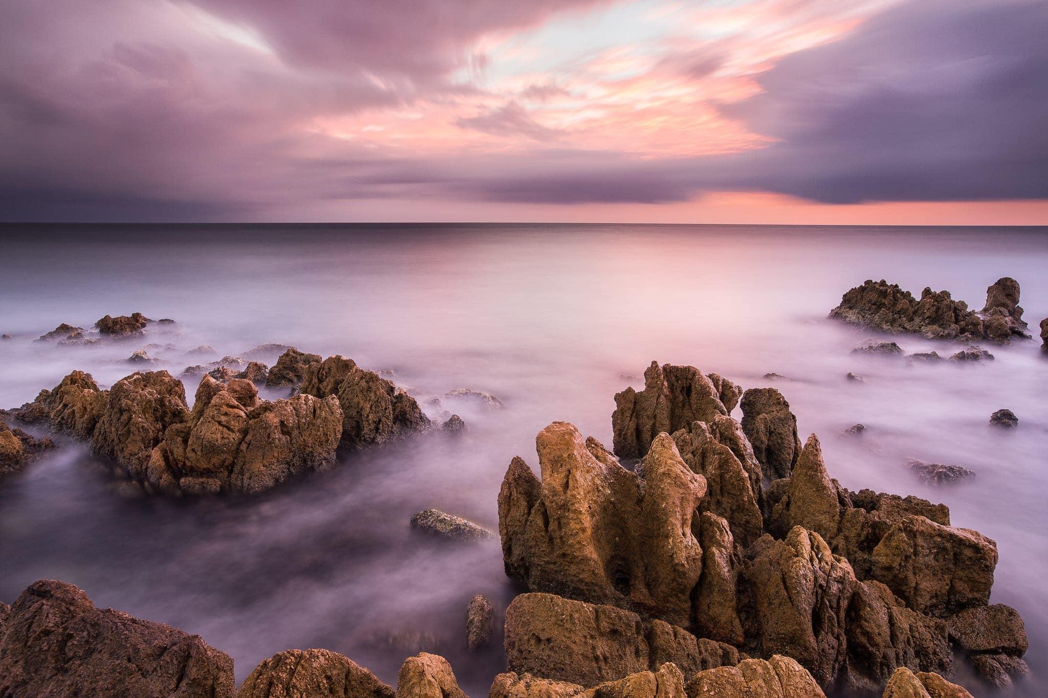 Francesco Gola Seascape Landscape Photography Long Exposure France Cote Azur Sunrise Antibe