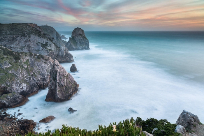 Francesco Gola Seascape Landscape Photography Long Exposure Cabo Roca Portugal Sunset Ursa
