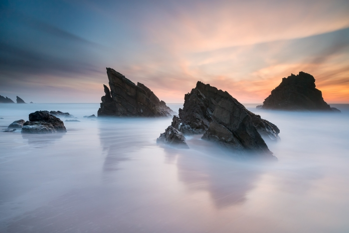Francesco Gola Seascape Landscape Photography Long Exposure Anima Adraga Beach Portugal Sunset