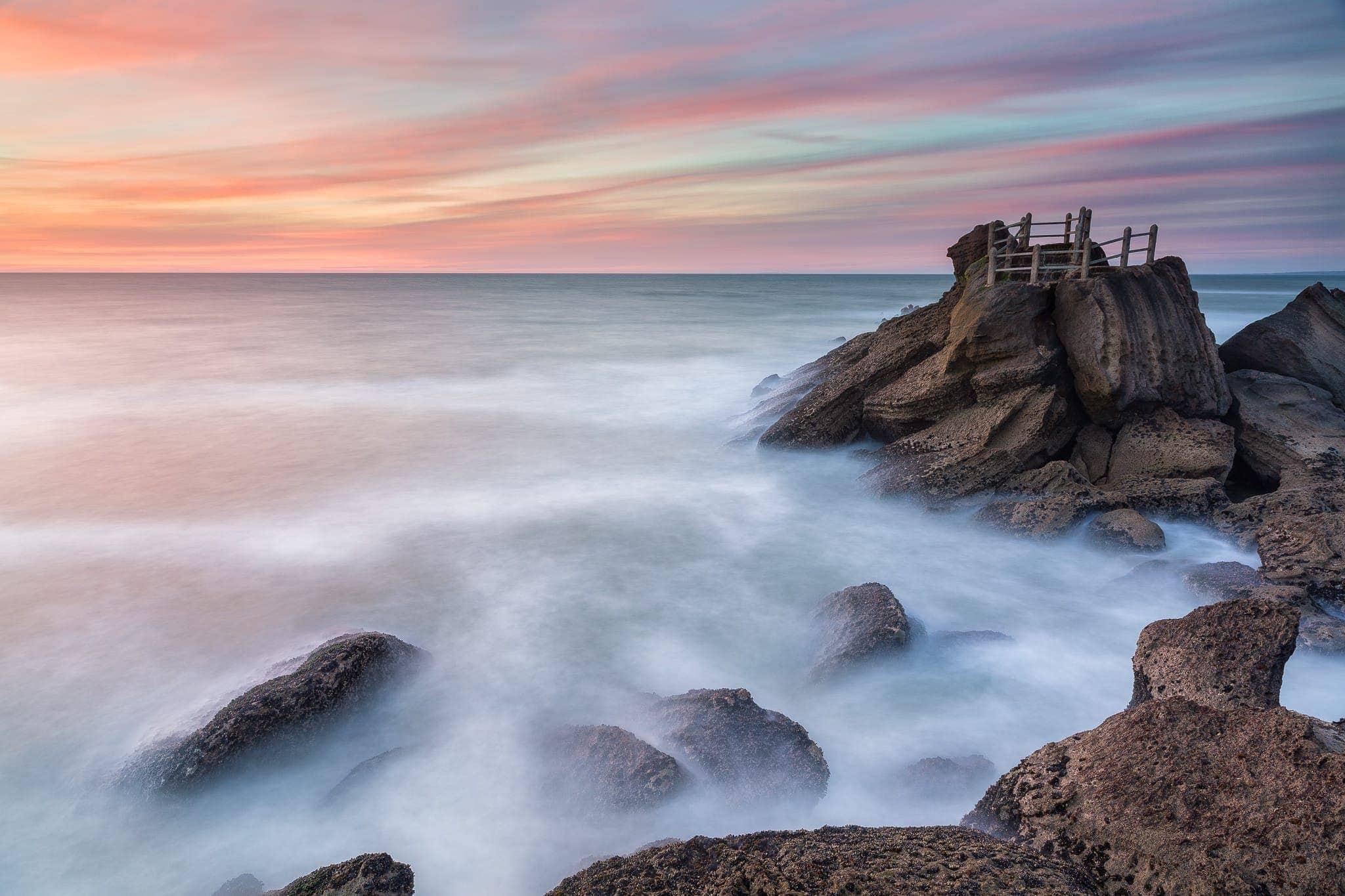 Francesco Gola Seascape Landscape Photography Long Exposure Portugal Santa Cruz Sunset