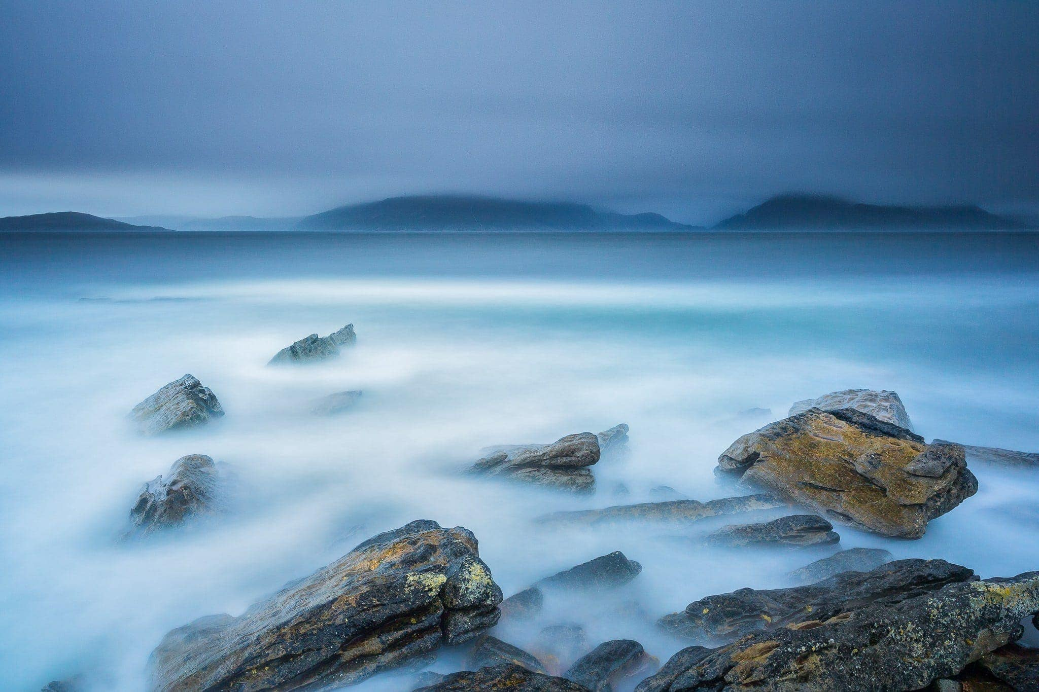 Francesco Gola Seascape Landscape Photography Long Exposure Blue Storm Elgol Skye Scotland