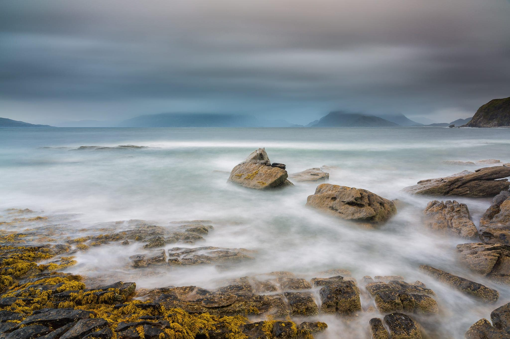 Francesco Gola Seascape Landscape Photography Long Exposure Elgol Scotland Skye Storm