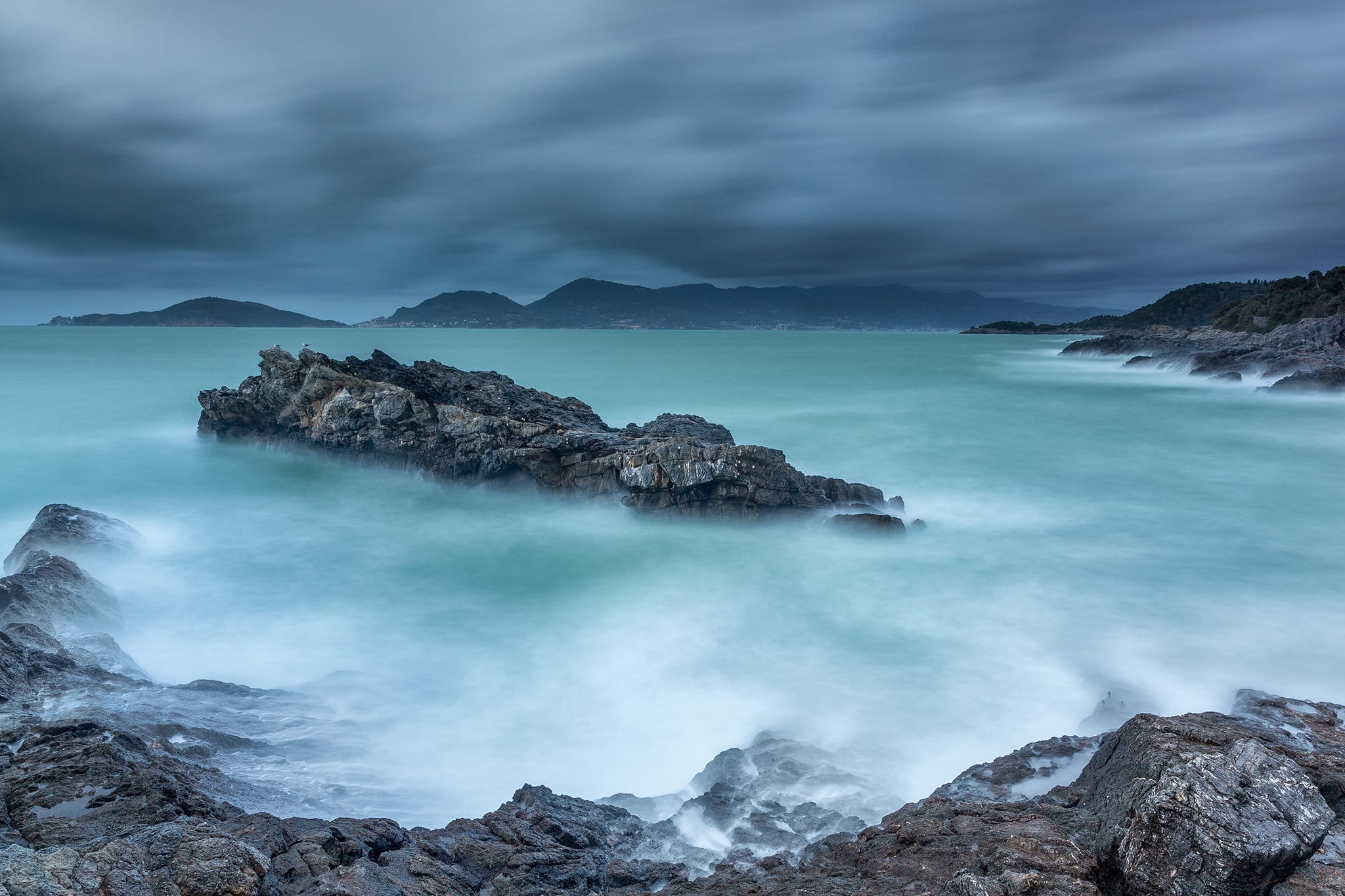 Francesco Gola Seascape Landscape Photography Long Exposure Storm Gulf Tellaro Italy La Spezia Italia