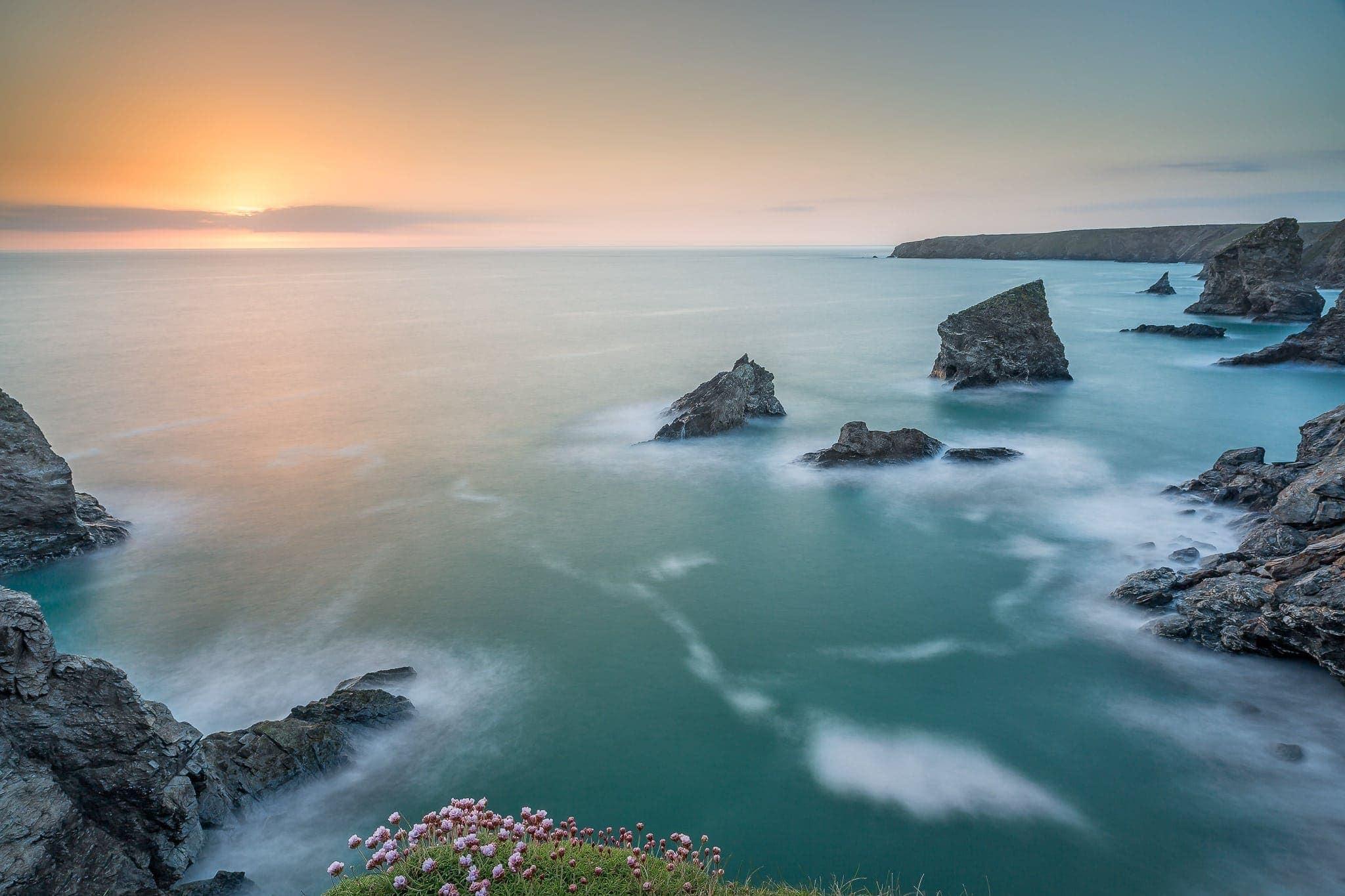 Francesco Gola Seascape Landscape Photography Bedruthan Step Uk Cornwall Long Exposure