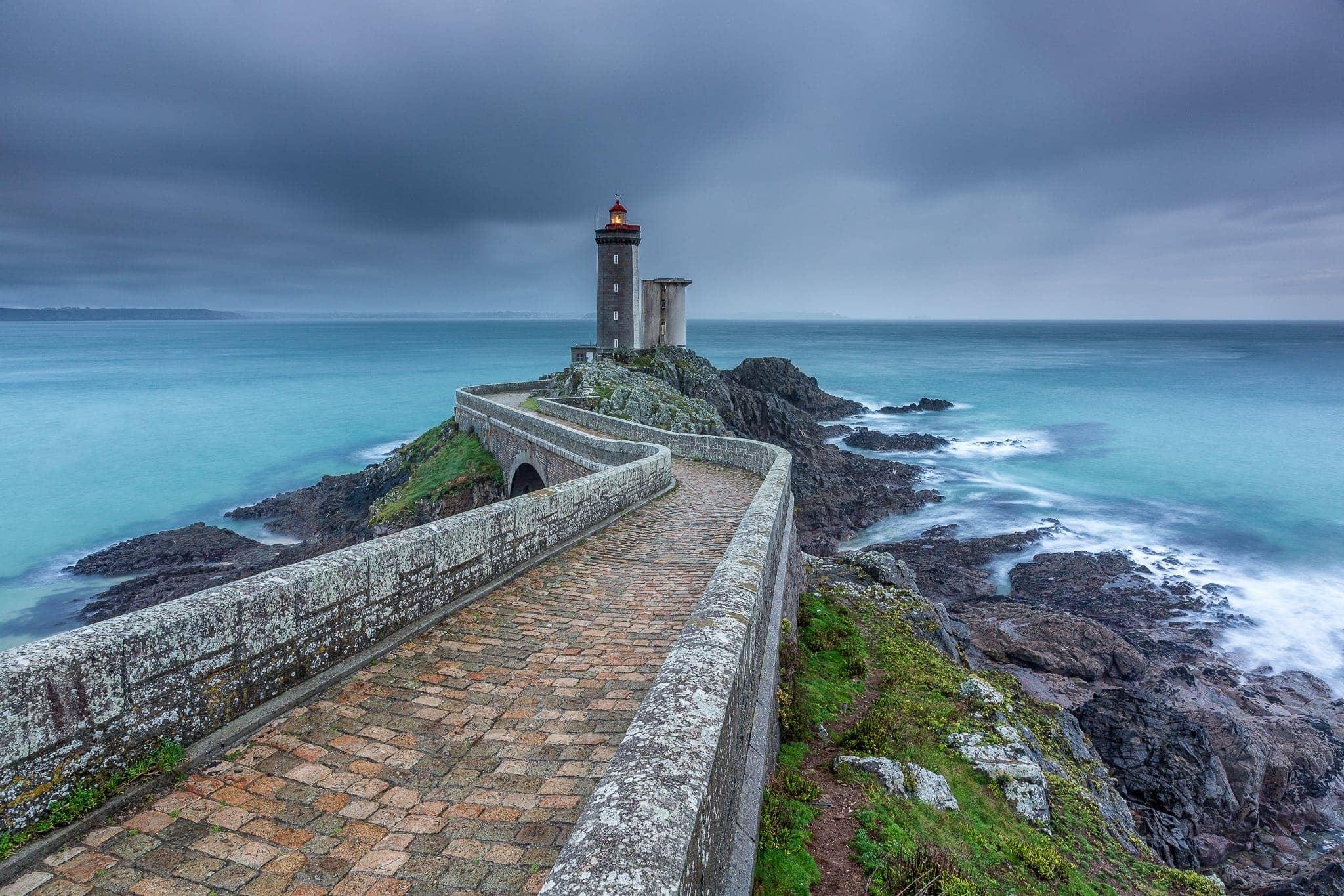 Francesco Gola Seascape Landscape Photography Petit Minou Storm Lighthouse Brittany Bretagne France Long Exposure