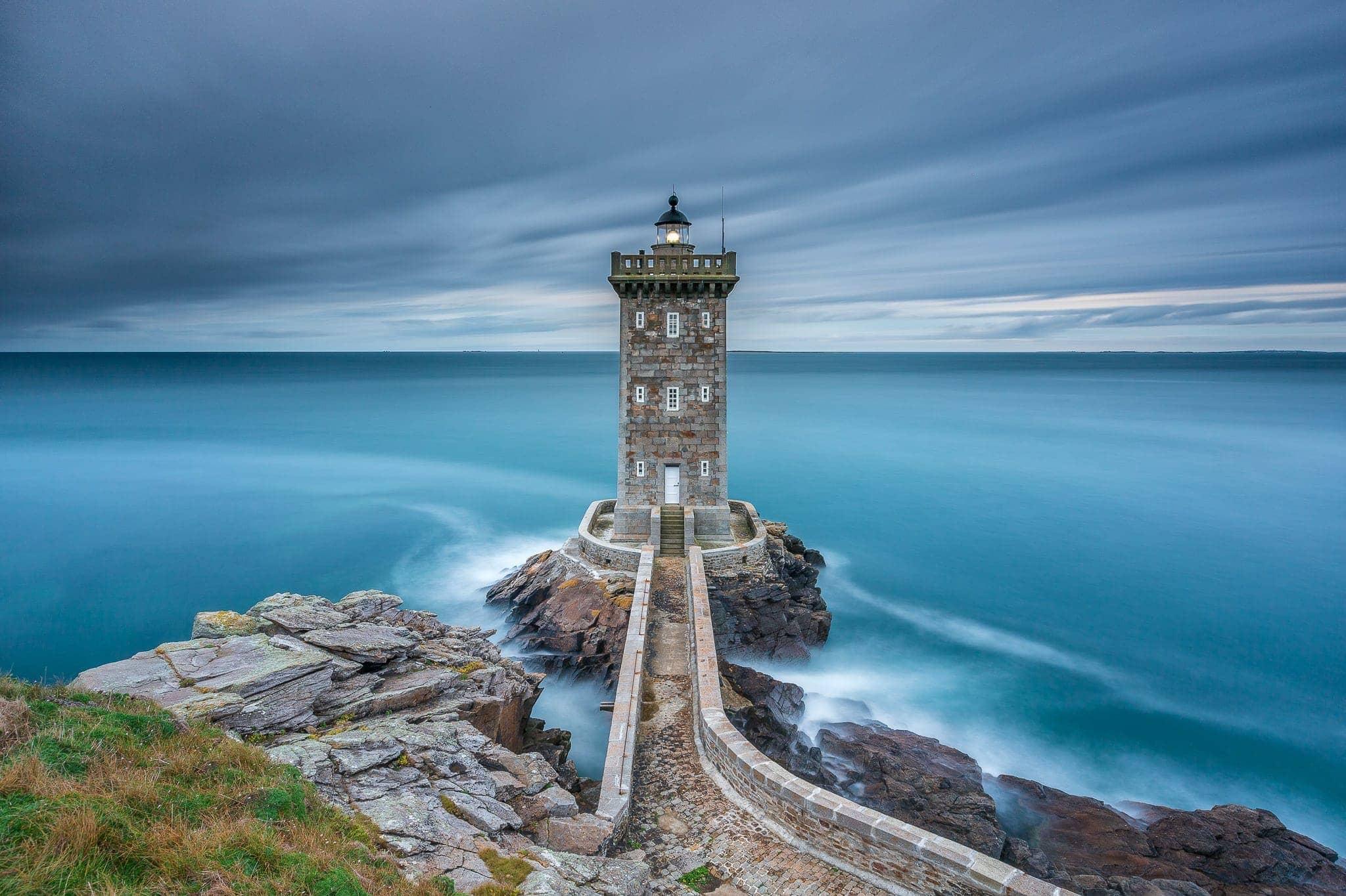 Francesco Gola Seascape Landscape Photography Brittany Bretagne France Lighthouse Kermorvan Polyphemus Long Exposure