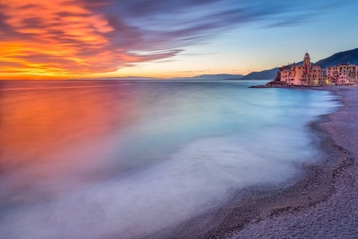 Francesco Gola Seascape Landscape Photography Camogli Sunset Italy Long Exposure