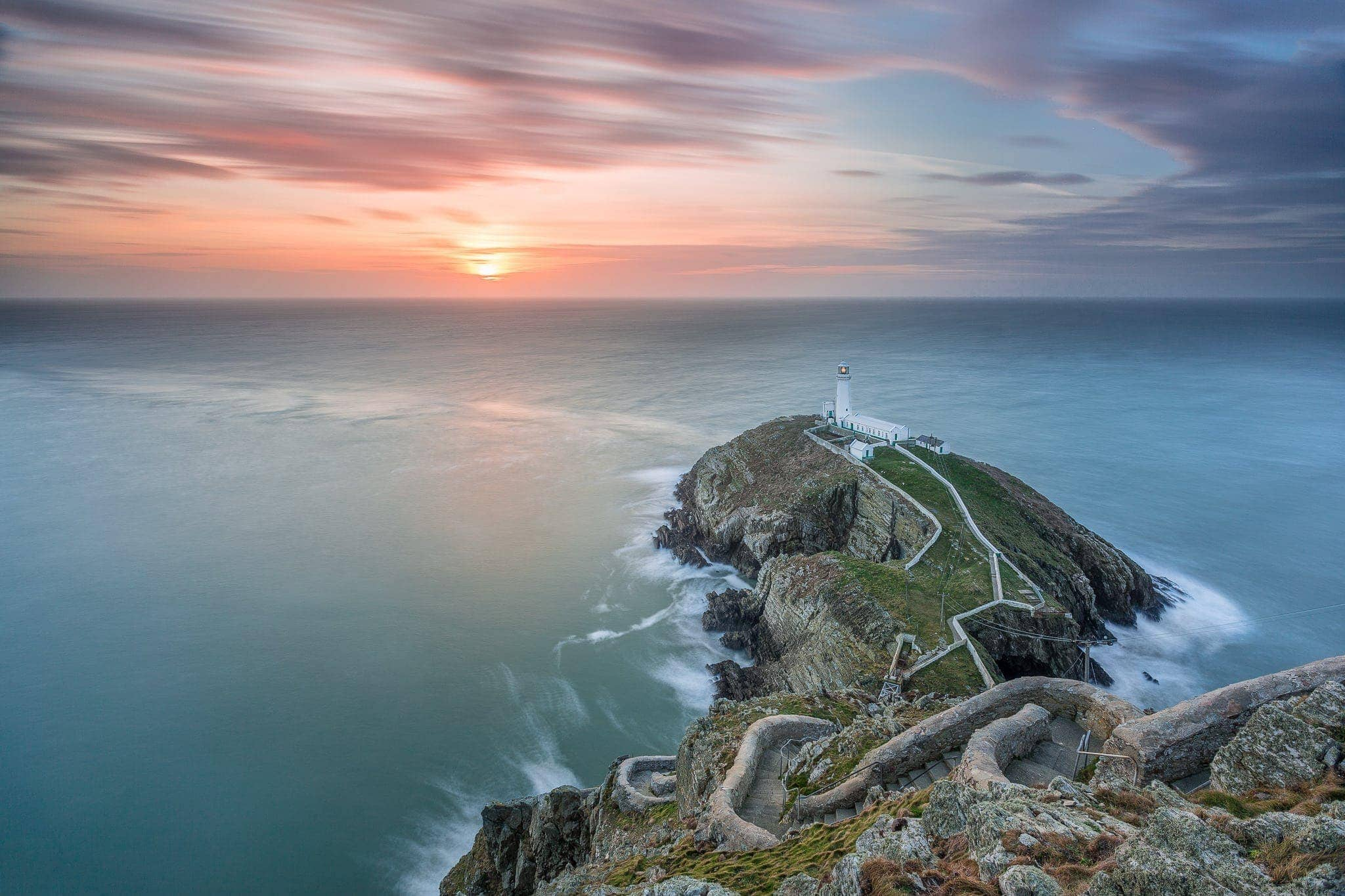 Francesco Gola Seascape Landscape Photography Uk Wales Galles Lighthouse South Stack Long Exposure