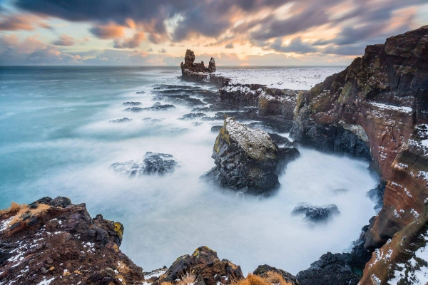 Francesco Gola Seascape Landscape Photography Sunset Snow Storm Long Exposure