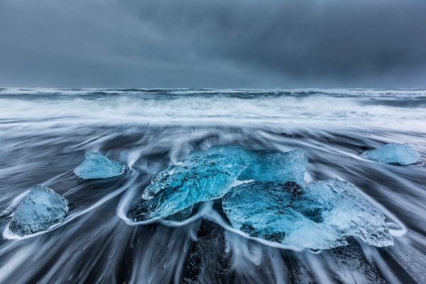 Francesco Gola Seascape Landscape Photography Glacier Lagoon Ice Iceberg Long Exposure