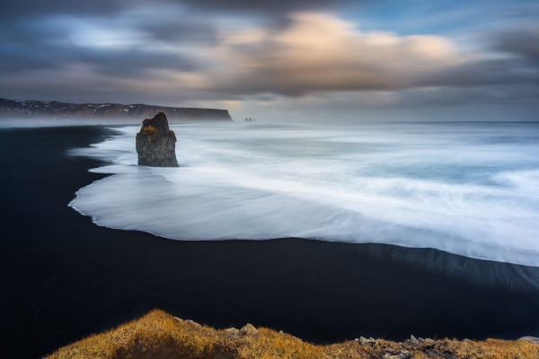 Francesco Gola Seascape Landscape Photography Vik Black Beach Storm Iceland Long Exposure