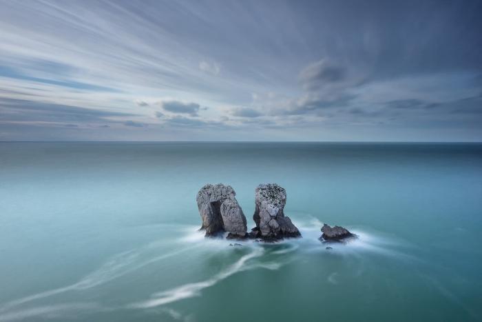 Francesco Gola Seascape Landscape Photography Los Urros Liencres Spain Costa Quebrada Storm Long Exposure