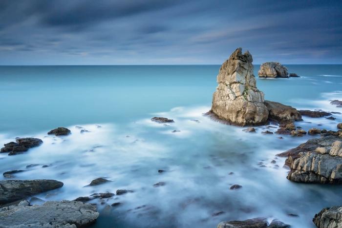 Francesco Gola Seascape Landscape Photography Blue Storm Costa Quebrada Spain Liencres Santander Long Exposure