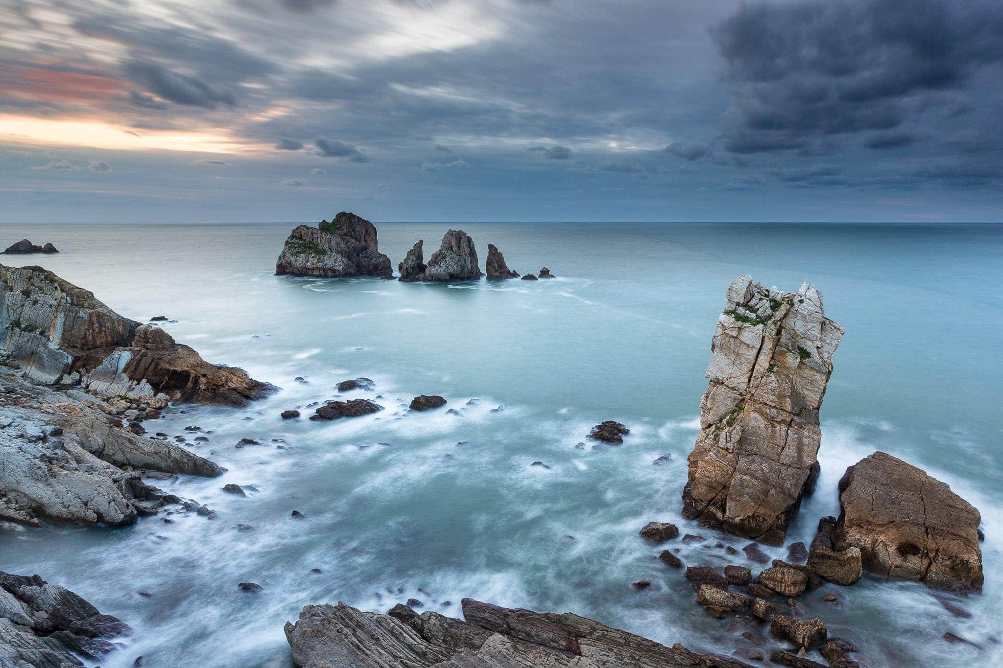 Francesco Gola Seascape Landscape Photography Costa Liencres Quebrada Santander Long Exposure