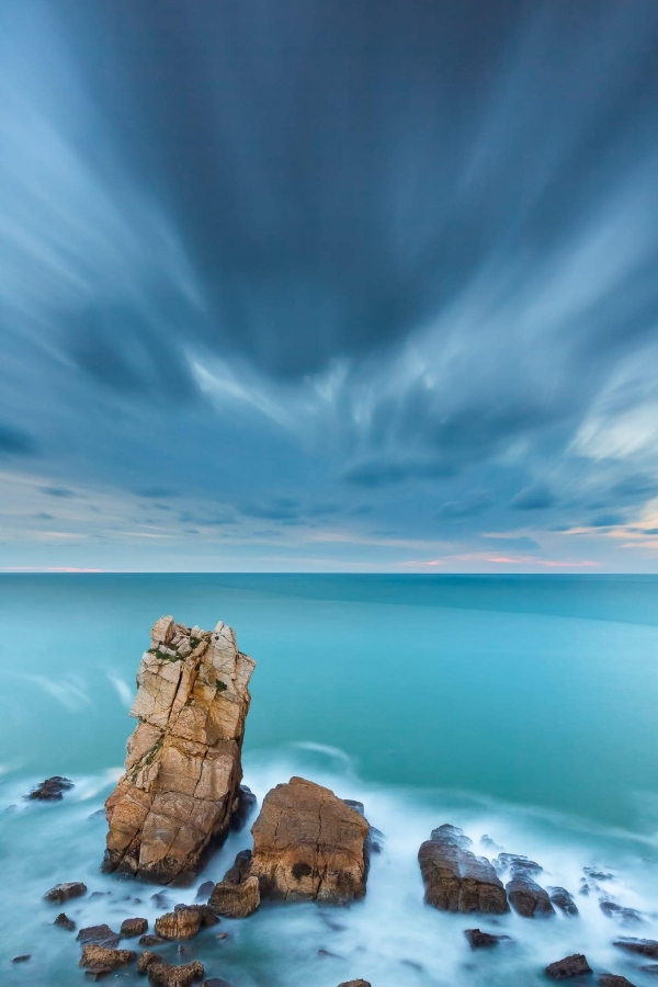 Francesco Gola Seascape Landscape Photography Costa Quebrada Storm Liencres Long Exposure