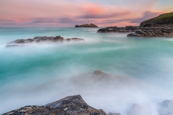 Francesco Gola Seascape Landscape UK Godrevy Lighthouse Long Exposure