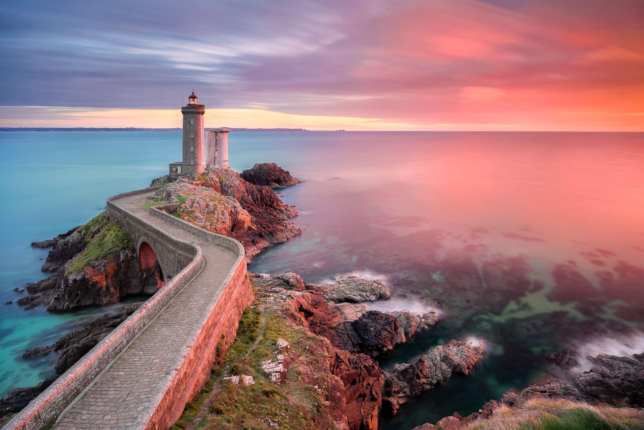 Francesco Gola Seascape Landscape Photography Brittany Bretagne Lighthouse France Petit Minou Long Exposure