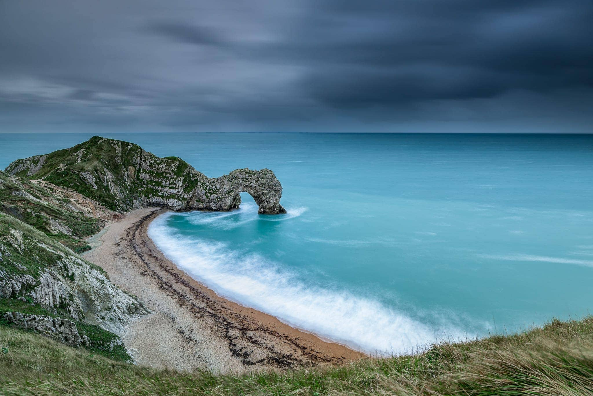 Francesco Gola Seascape Landscape Photography Uk Durdle Door Storm Long Exposure