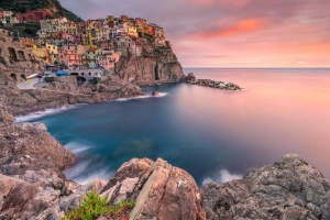 Francesco Gola Seascape Landscape Photography Liguria Manarola Cinque Terre Sunset Long Exposure