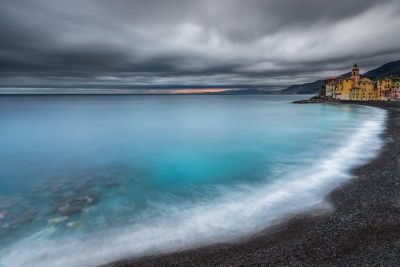 Francesco Gola Seascape Landscape Photography Liguria Camogli Storm Winter Long Exposure
