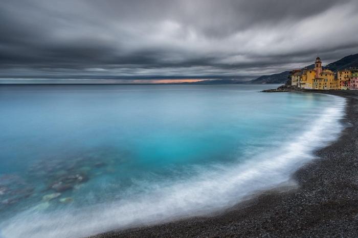 Francesco Gola Seascape Landscape Photography Liguria Camogli Storm Winter Long Exposure