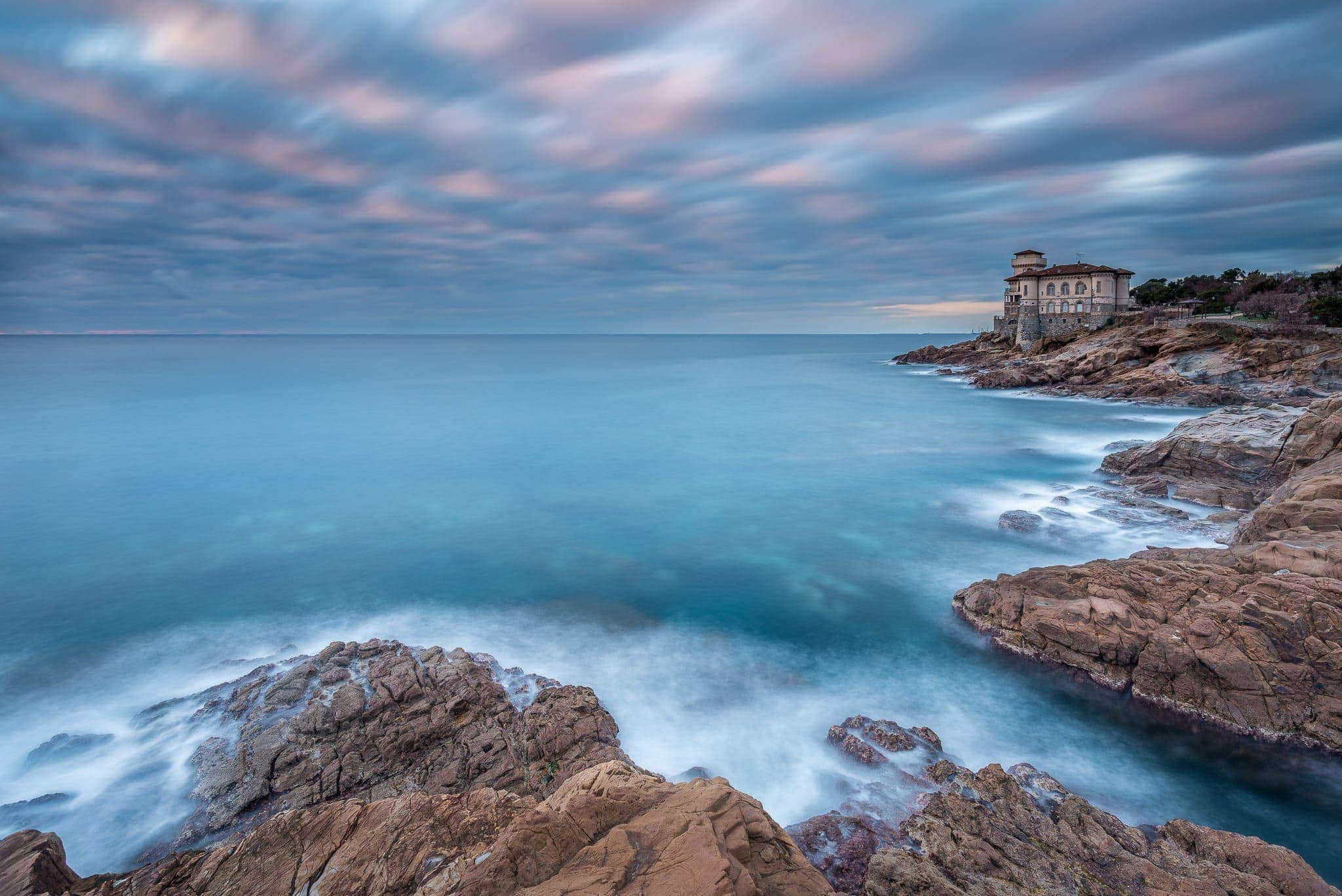 Francesco Gola Seascape Landscape Photography Tuscany Toscana Catello Castel Boccale Long Exposure