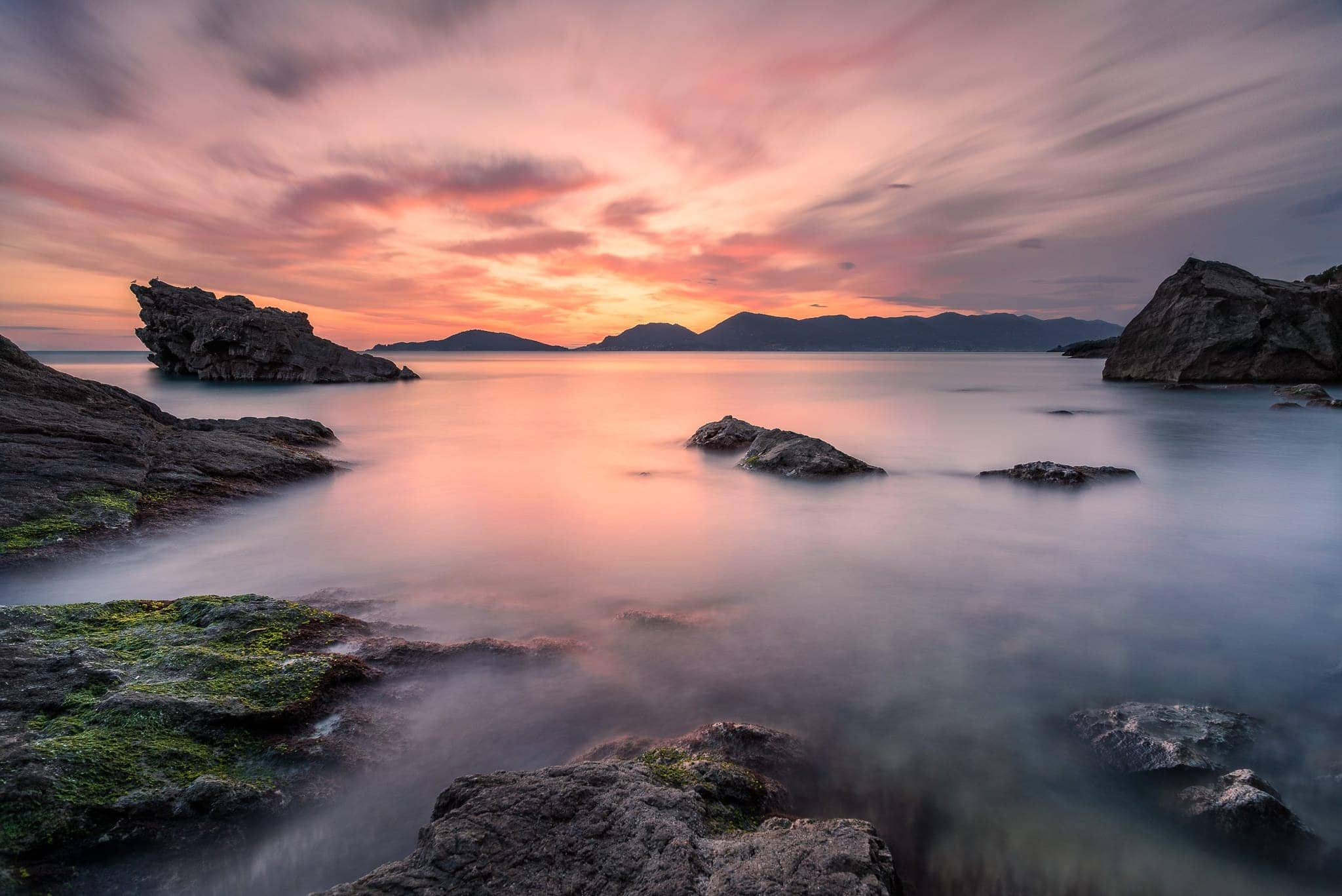 Francesco Gola Seascape Landscape Photography Tellaro Lerici Liguria Summer Sunset Long Exposure