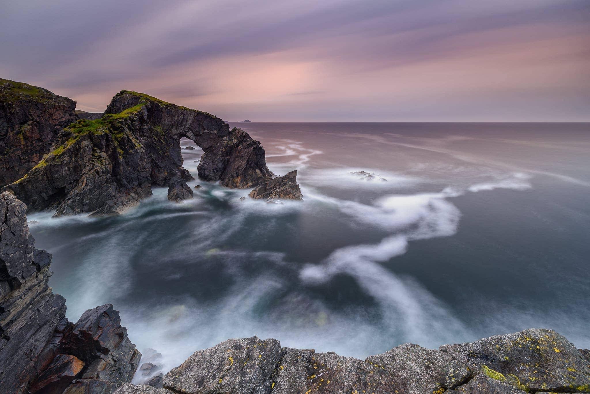 Francesco Gola Seascape Landscape Photography Scotland Arch Outer Hebrides Long Exposure