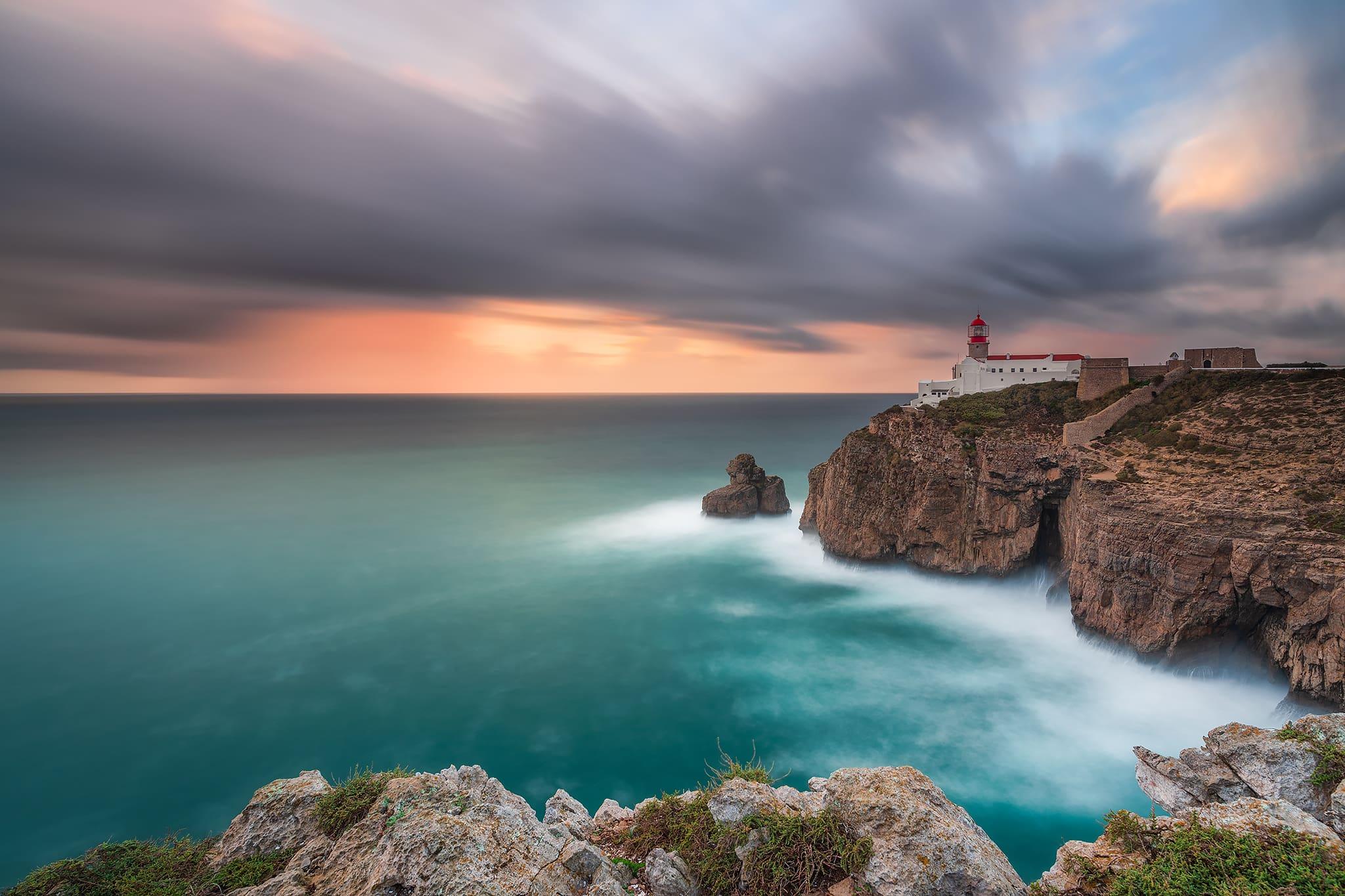 Francesco Gola Seascape Long Exposure Photography Landscape Portugal Europe Algarve Cabo Vicente Lighthouse