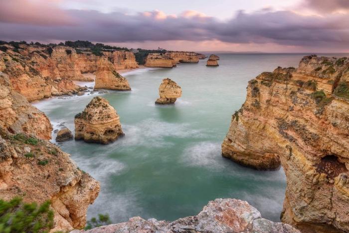 Francesco Gola Seascape Landscape Photography Algarve Portugal Praia Marinha Long Exposure