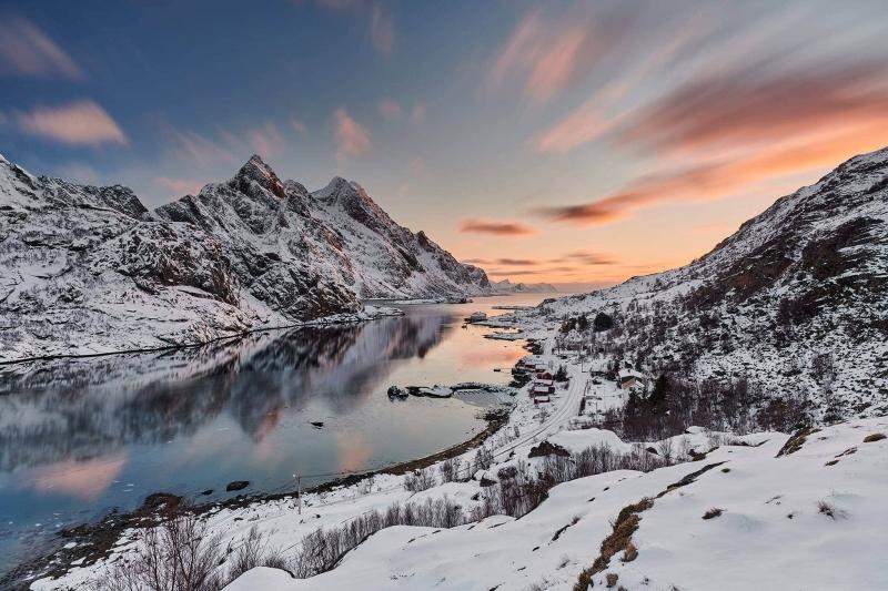 Francesco Gola Seascape Landscape Photography Long Exposure Sunset Lofoten Norway