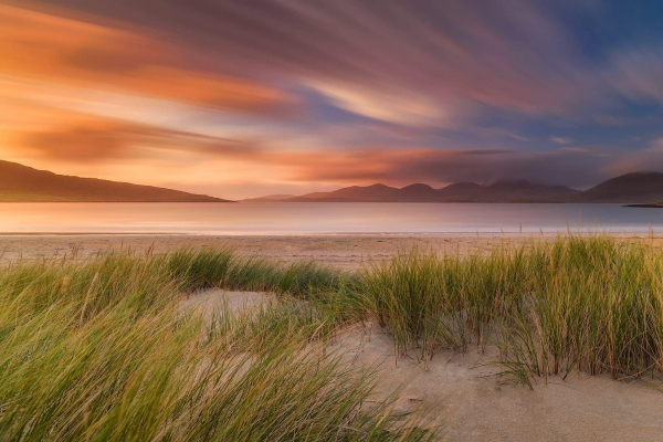 Francesco Gola Seascape Landscape Photography UK Scotland Luskentyre Long Exposure Sunset