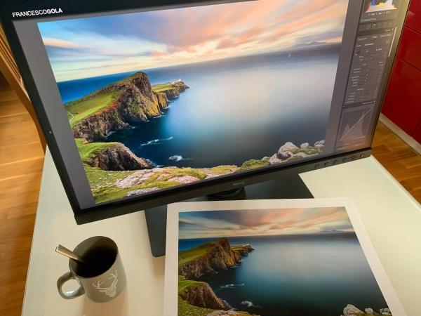 Francesco Gola Benq sw271 4k monitor print