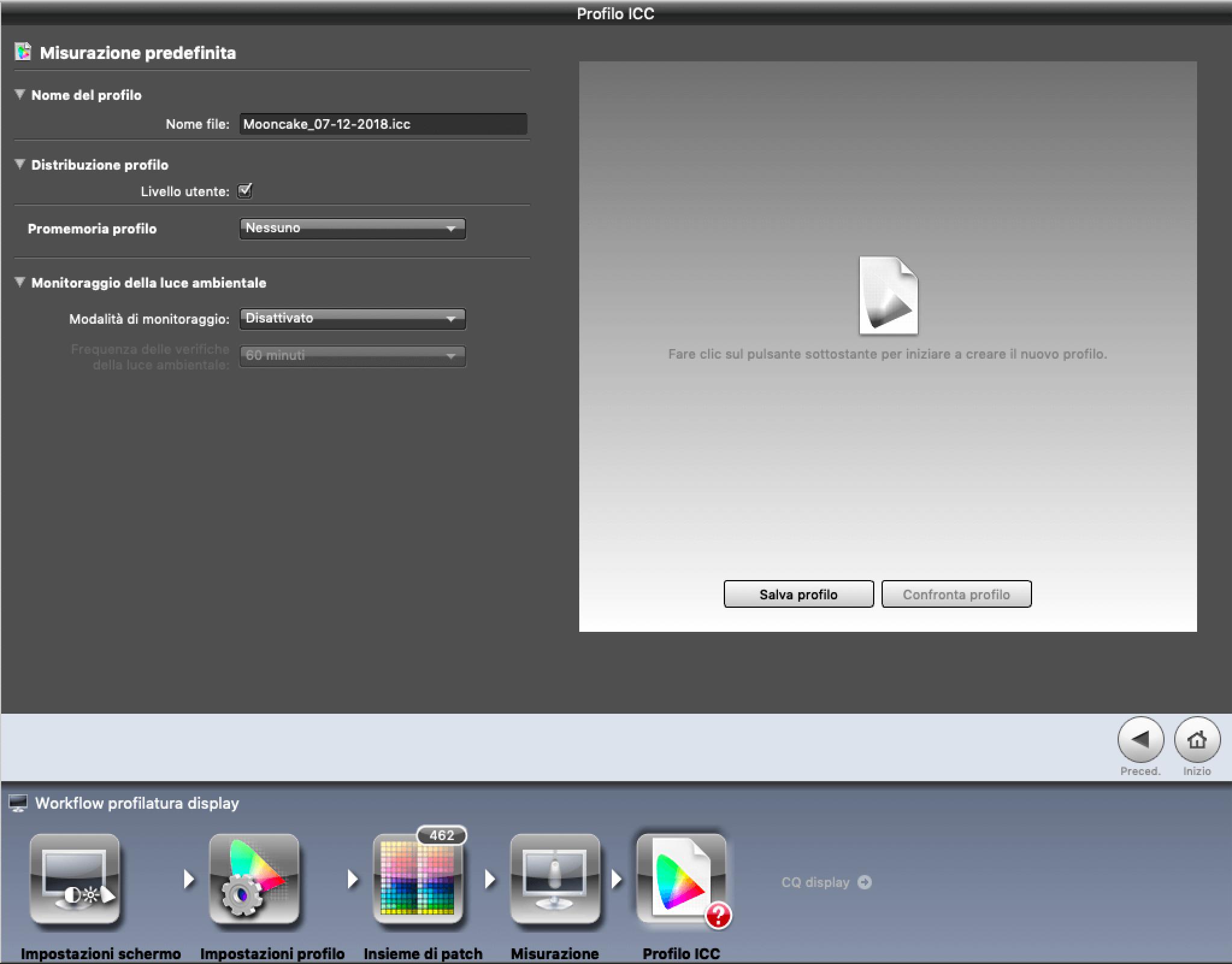 Francesco Gola X-Rite Calibrate Profile Monitor i1Display Pro iProfiler ICC 10