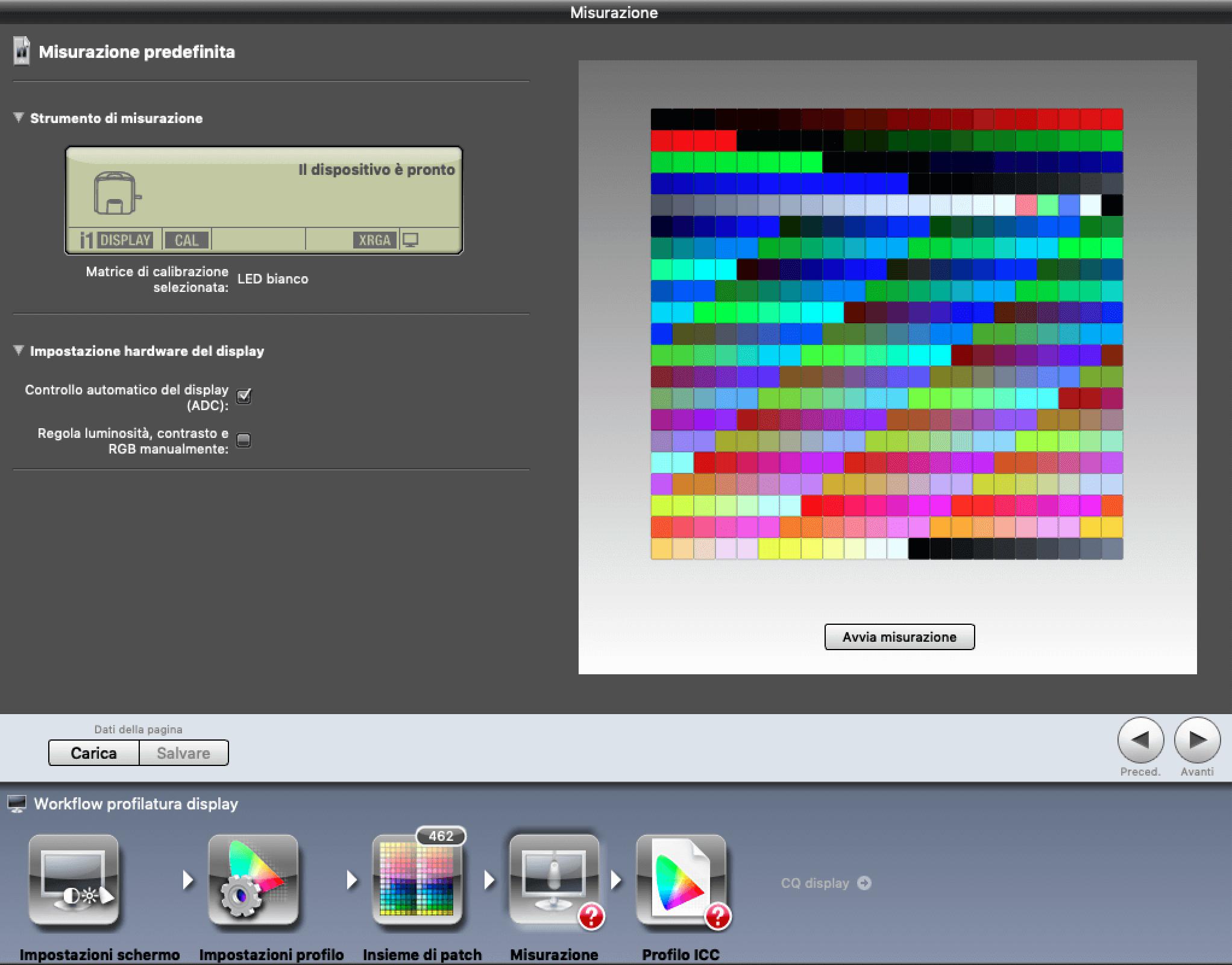 Francesco Gola X-Rite Calibrate Profile Monitor i1Display Pro iProfiler ICC 5