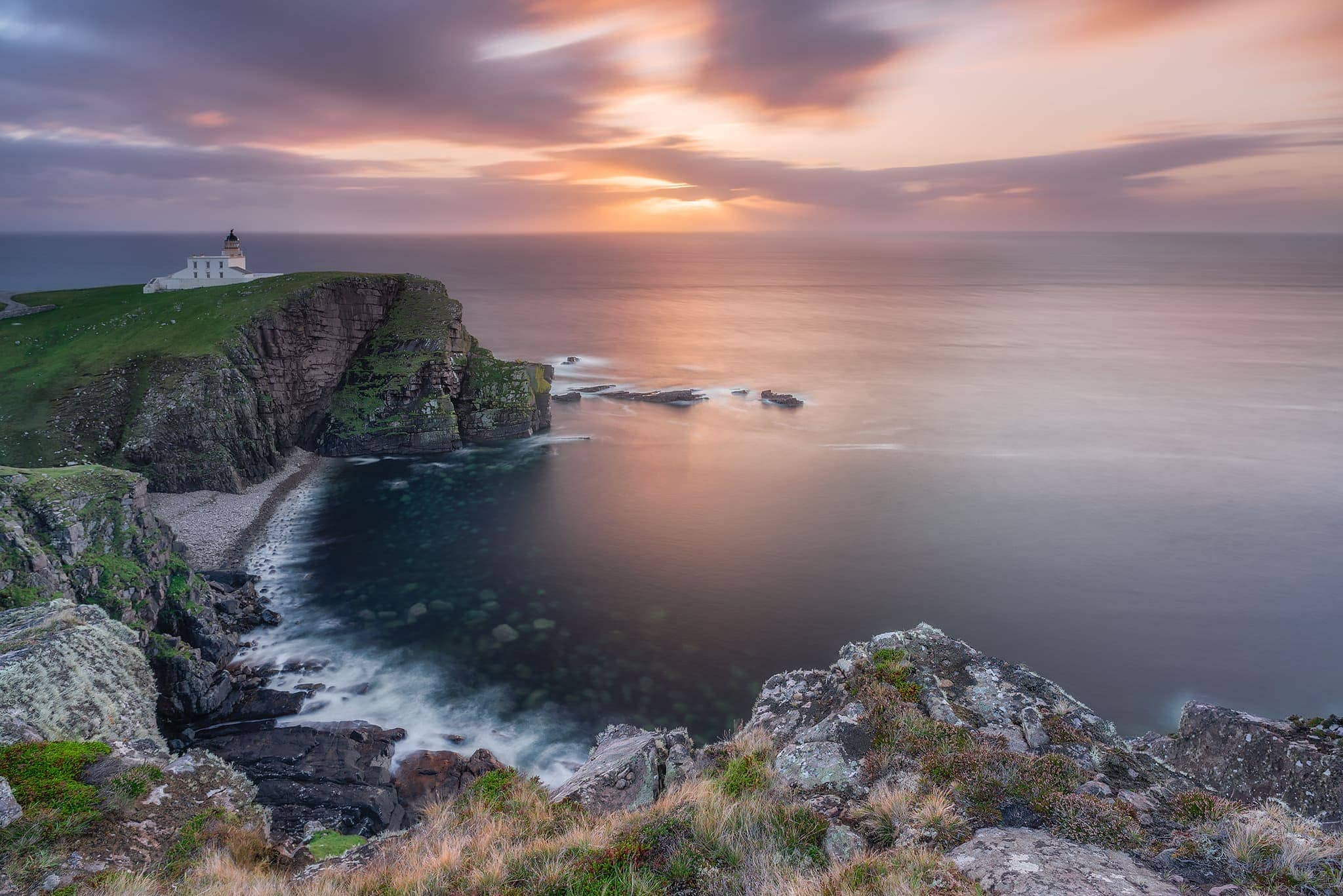 Francesco Gola Stoer Lighthouse Scotland Long Exposure Seascape