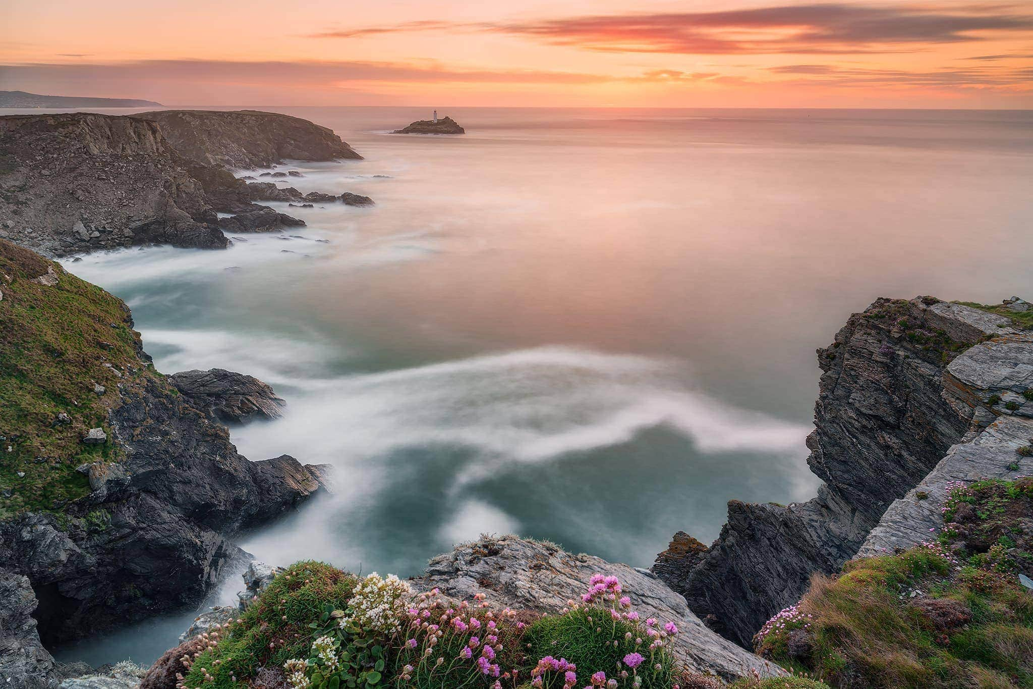 francesco gola landscape seascape long exposure cornwall uk godrevy lighthouse