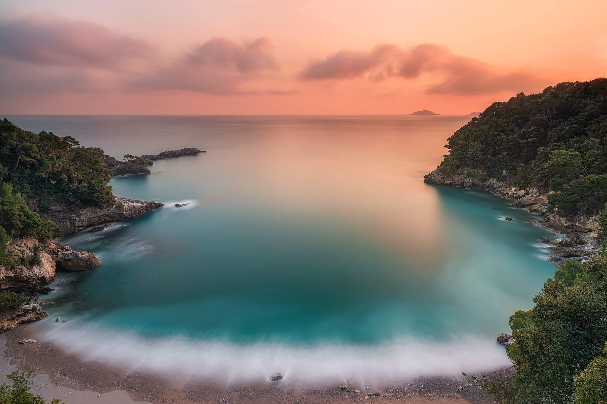 Francesco Gola Italy Italia Lerici Tellaro Eco Mare Fiascherino Long Exposure Seascape Sunset Tramonto R3