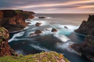 Francesco Gola Seascape Long Exposure Lunga Esposizione Scotland Scozia Shetland Island Isole Europe Europa Sunset Lighthouse