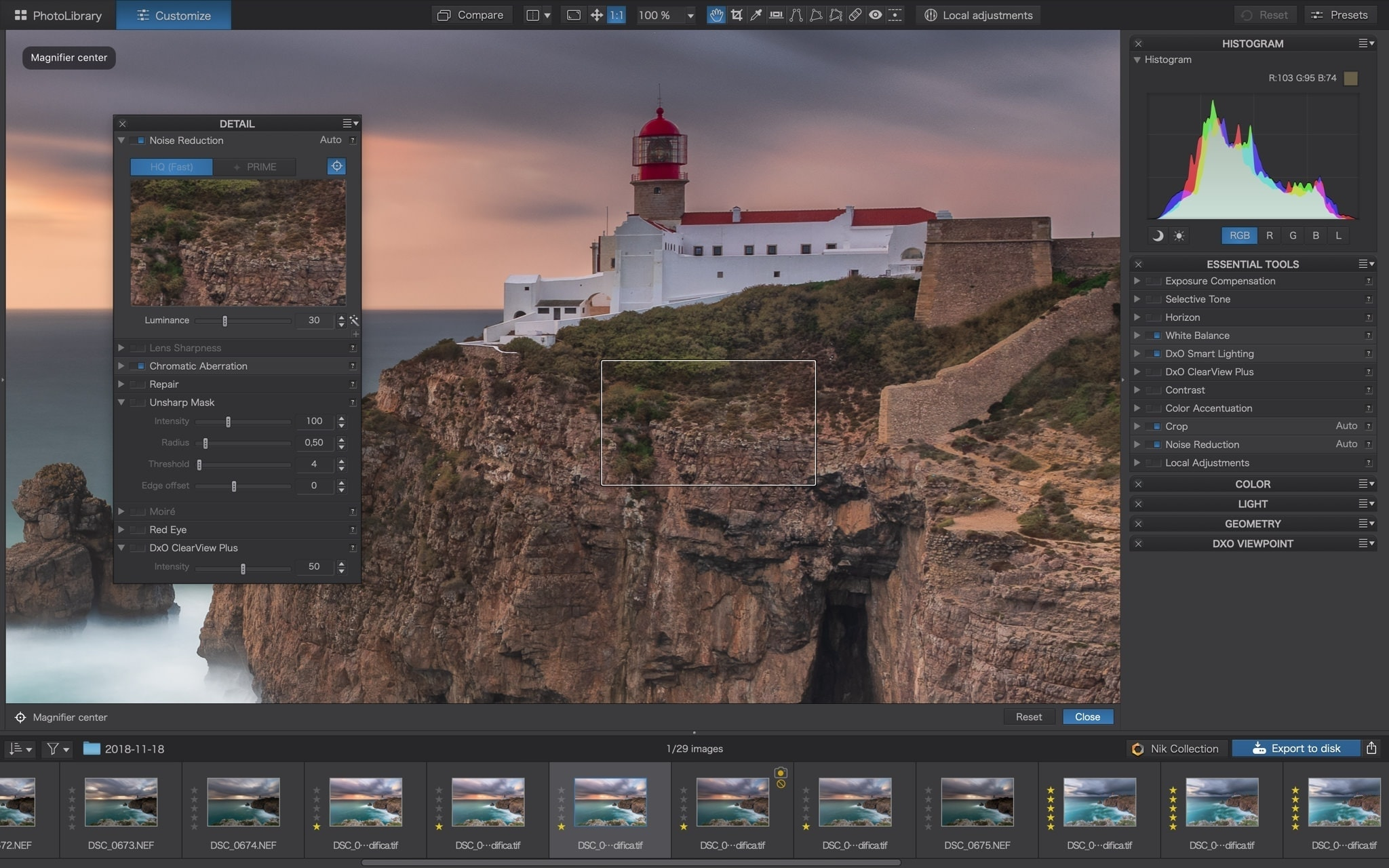 PhotoLab 3 DxO Sharpening Contrast Detail Francesco Gola review