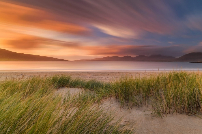 Francesco Gola Seascape Landscape Photography UK Scotland Luskentyre Long Exposure Sunset 1