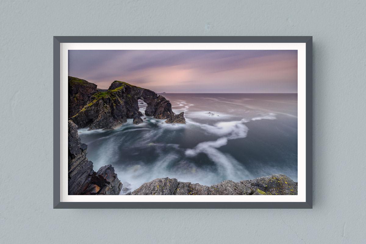 Francesco Gola FineArt Prints Home Interior Design Seascape Landscape Long Exposure Scotland Outer Hebrides Lewiss Arch Isle Rain