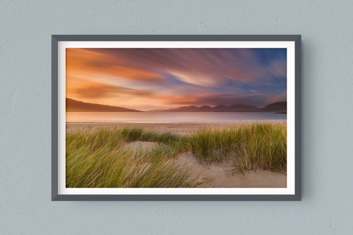Francesco Gola FineArt Prints Home Interior Design Seascape Landscape Long Exposure Scotland Outer Hebrides Luskentyre Warm