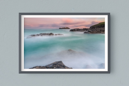Francesco Gola FineArt Prints Home Interior Design Seascape Landscape Long Exposure UK Cornwall Godrevy Lighthouse Sunrise Pastel